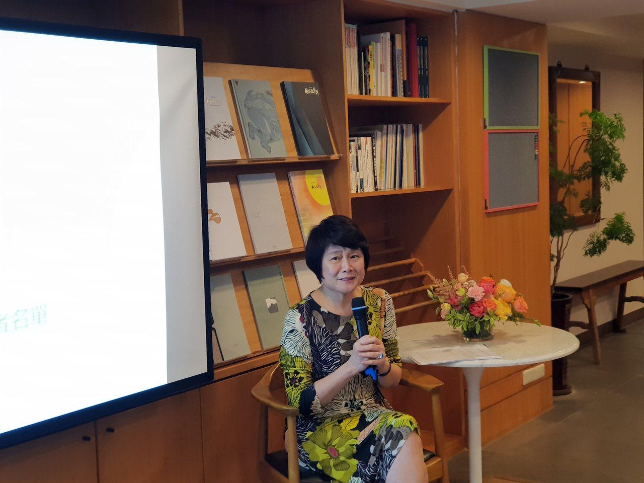 國藝會董事長林曼麗公布21屆文藝獎得主。記者陳宛茜/攝影