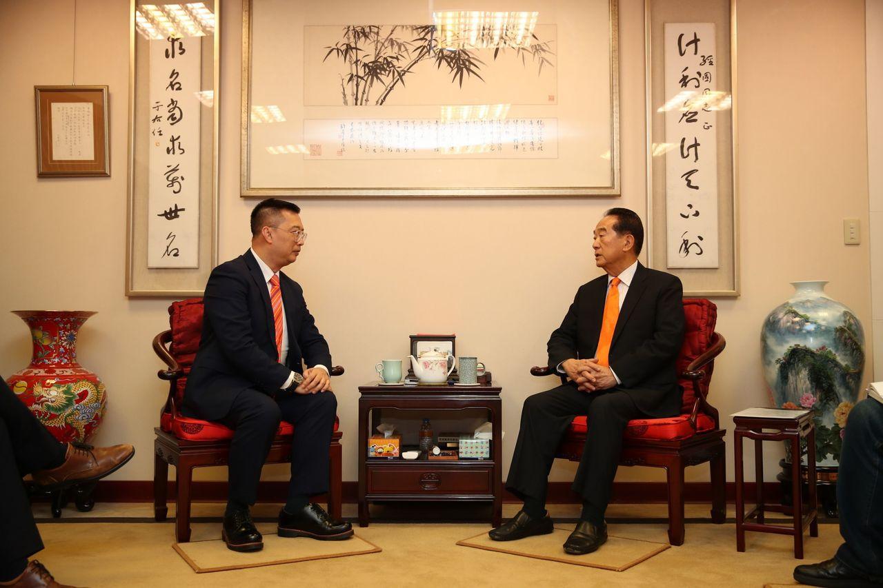 新加坡代表黃偉權將離任 宋楚瑜重申台星友誼