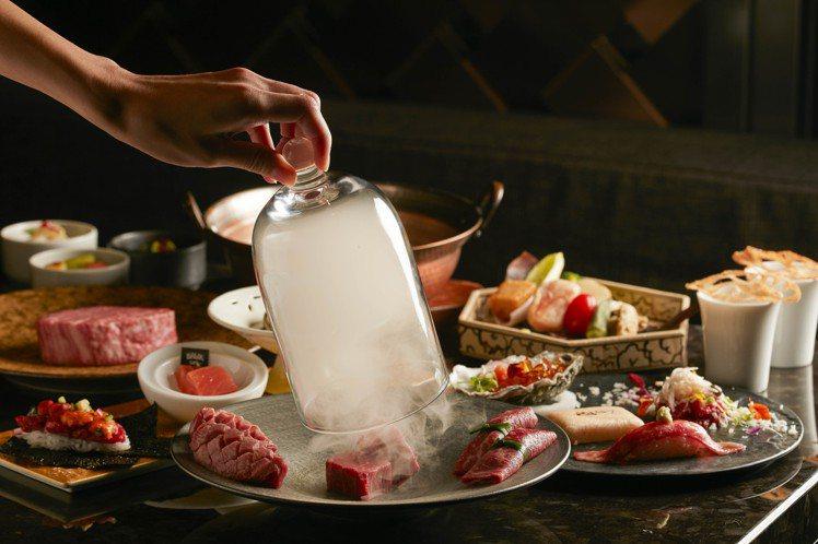 「和牛47」限定三天推出「冬燦套餐」,晚餐價每人5,800元。圖/乾杯提供