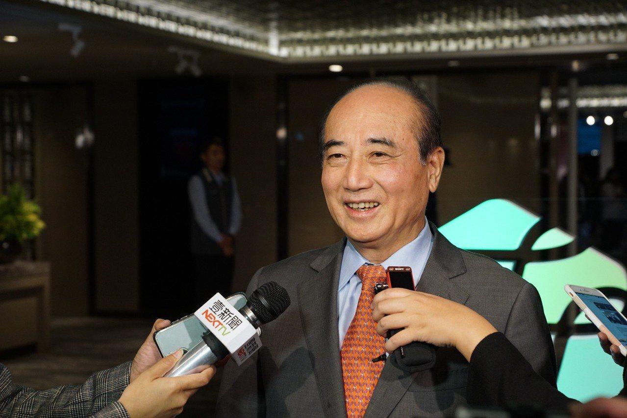 王金平下午出席第15屆永信李天德醫藥科技獎頒獎典禮。王金平辦公室提供