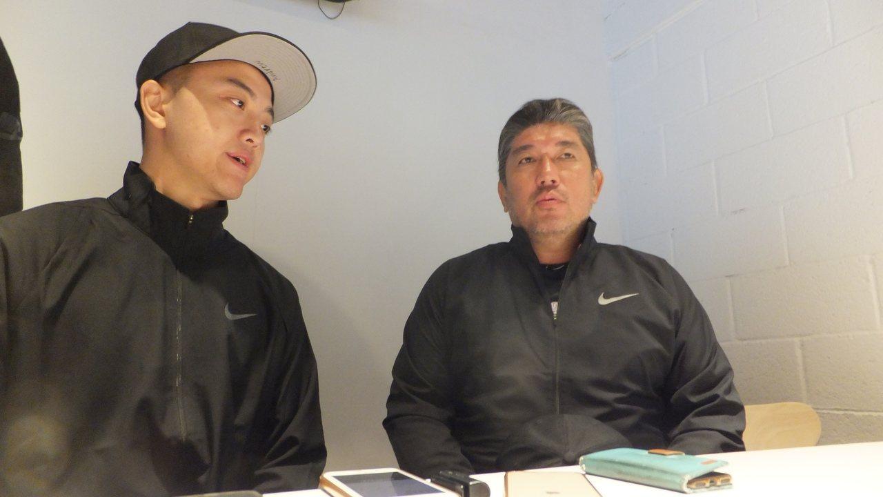 大聯盟退役名將野茂英雄(右)對台灣棒球的成長印象深刻。記者藍宗標/攝影