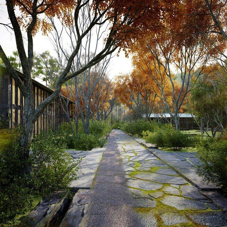 在安縵京都的庭院,一年四季都可欣賞到不同的自然景觀。圖/安縵京都提供