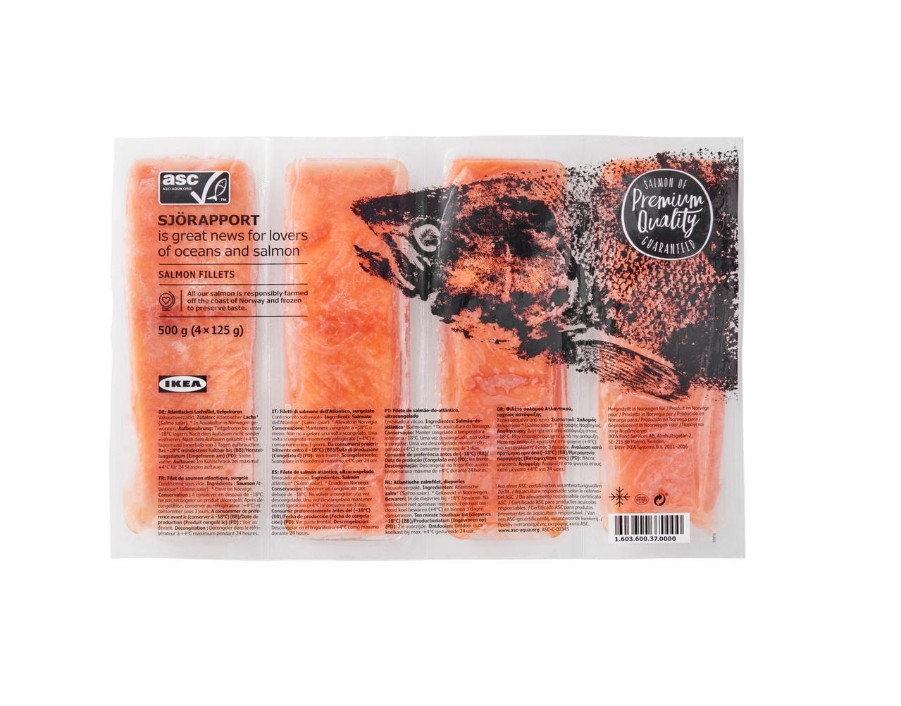 IKEA SJÖRAPPORT鮭魚菲力,售價550元。圖/IKEA提供