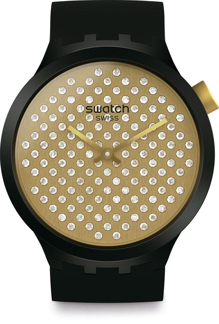 SWATCH閃耀金光SPARKLEBOLD腕表,台灣限量10只,11,050元。...
