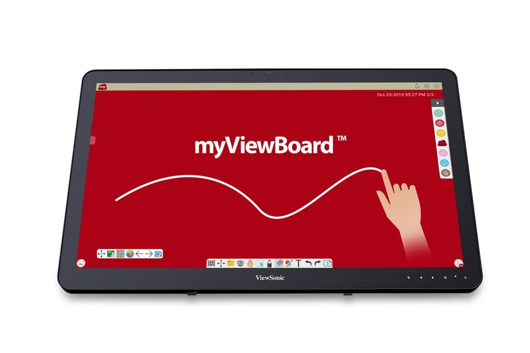 24吋智慧互動教學平台ViewBoard Mini IFP2410。圖/View...