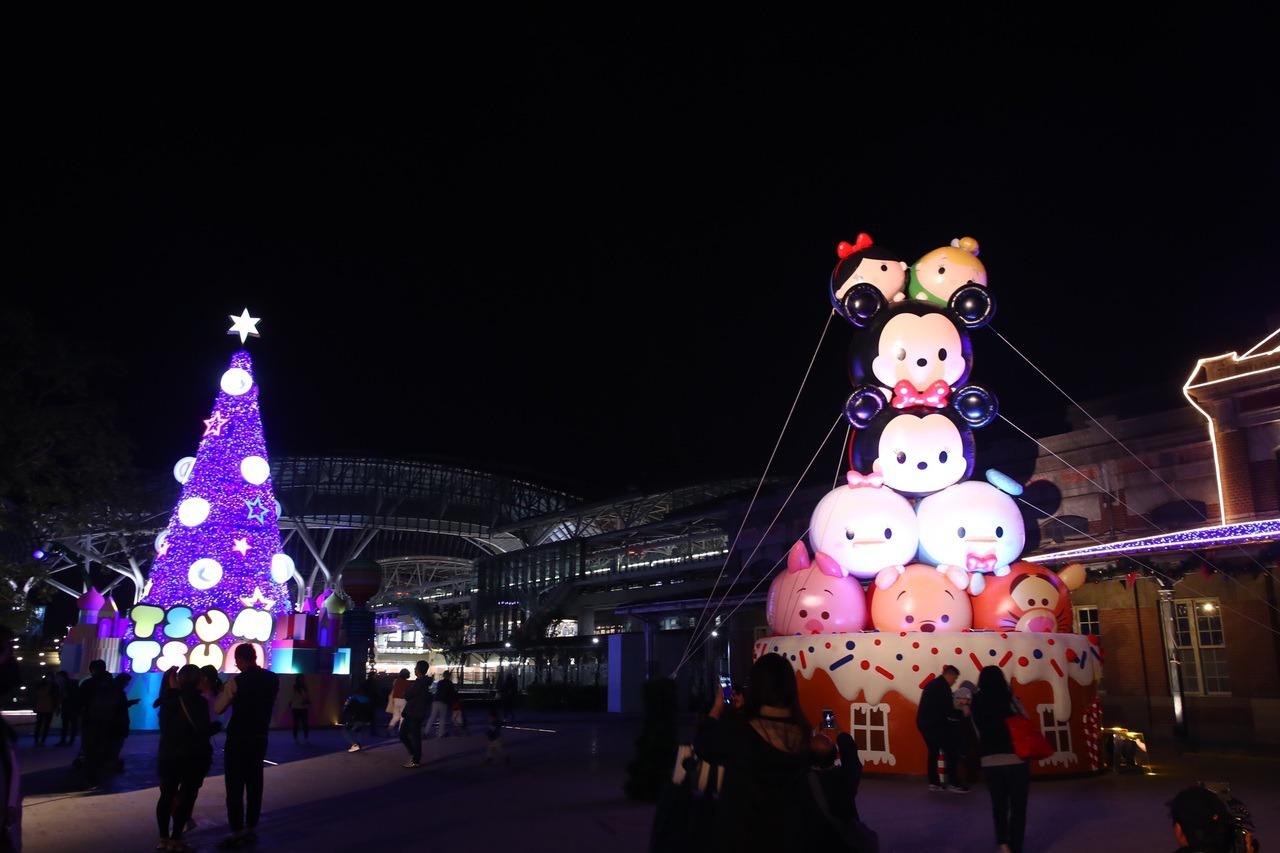 台中舊城區耶誕點燈 迪士尼卡通亮起來