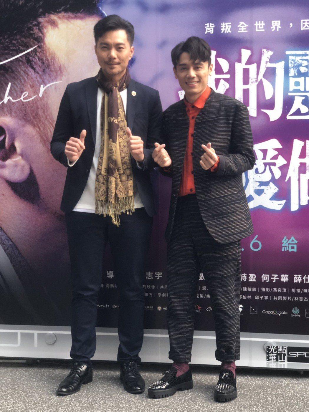 張晉豪(左)與邱志宇在「我的靈魂是愛做的」床戲演到真情流露。圖/海鵬提供