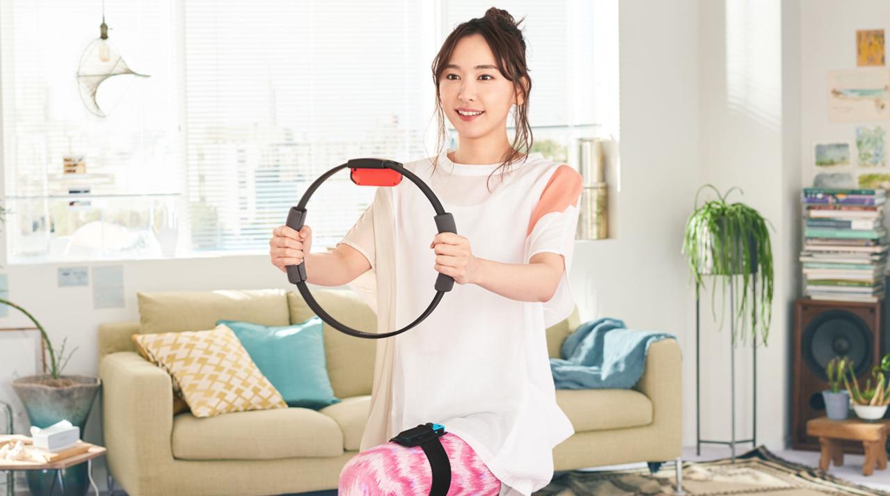 任天堂Switch遊戲「健身環大冒險」,由日本「國民老婆」新垣結衣代言。圖/摘自...