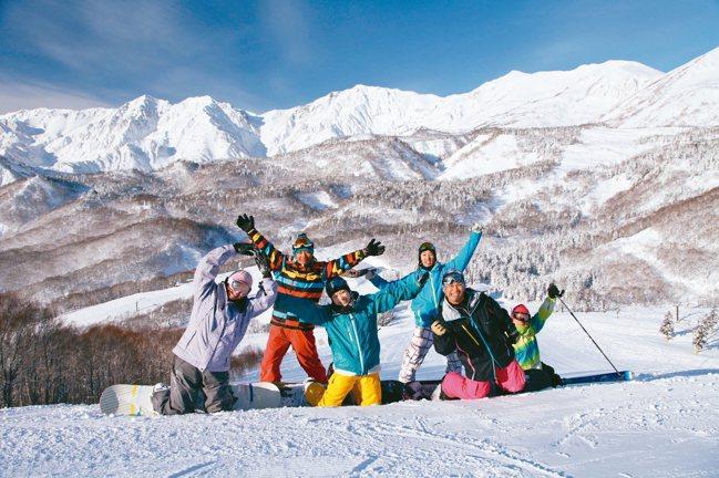 栂池高原滑雪場有多條平坦遼闊的道路。 圖/東南旅遊提供