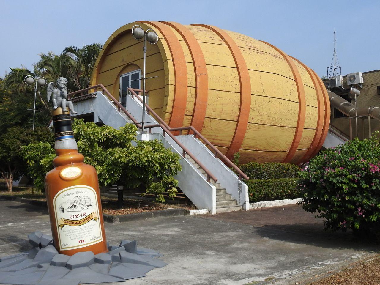 台酒公司斥資10億元,將改造南投酒廠成城堡威士忌觀光工廠。記者賴香珊/攝影