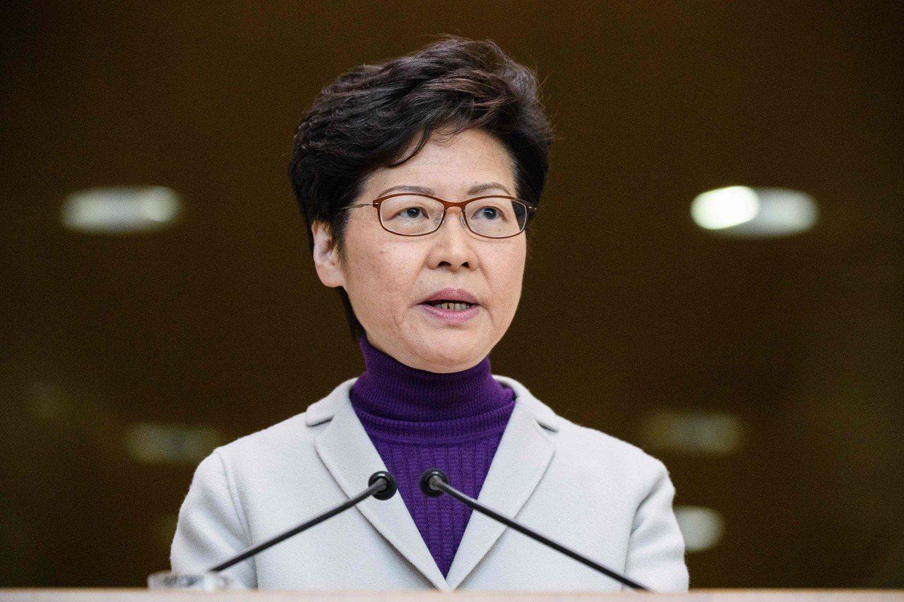 香港特首林鄭月娥昨表示,香港會按北京當局要求配合和跟進採取反制美國的措施。 (法...