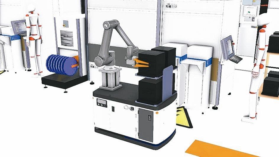 運用無軌導引式移動機器人,發展工業5.0產業架構。 綠捷/提供
