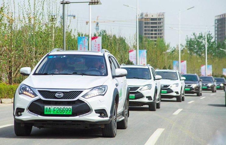 圖為比亞迪新能源車。(網路照片)
