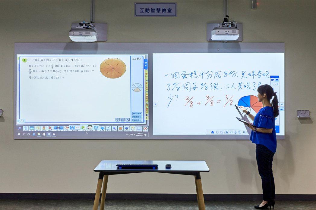 Epson全系列教育投影機,將在教育科技展中打造小學堂情境。 台灣愛普生/提供