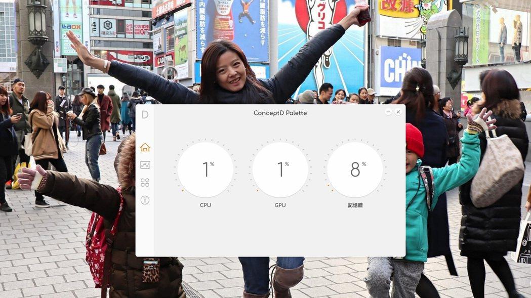 ConceptD Palette監控軟體。 彭子豪/攝影