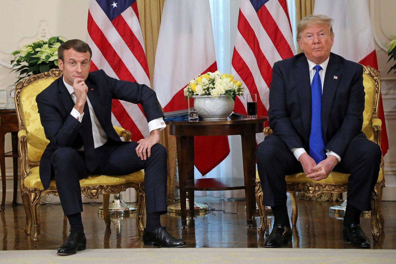 北約峰會,川普總統與法國總統馬克宏在大會前雙邊會談,火花四射。兩人言辭犀利交鋒,...