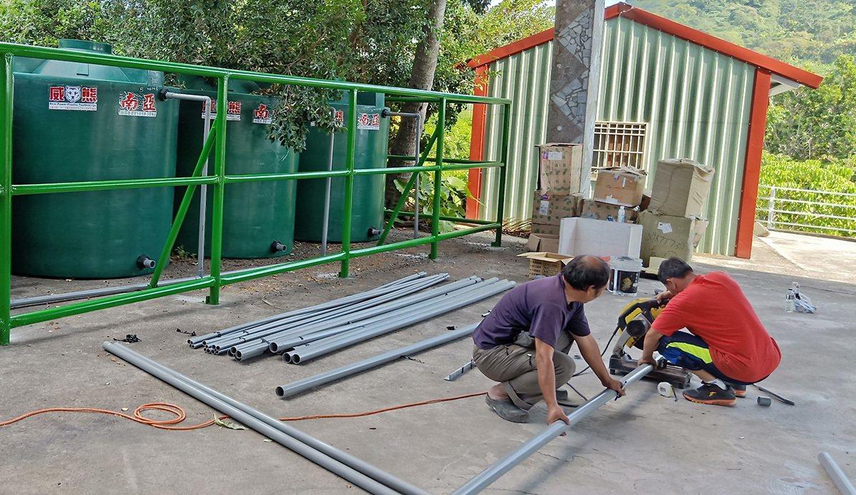 可口可樂贊助偏鄉山區建立雨水貯集系統,留住水資源。 圖/可口可樂 提供
