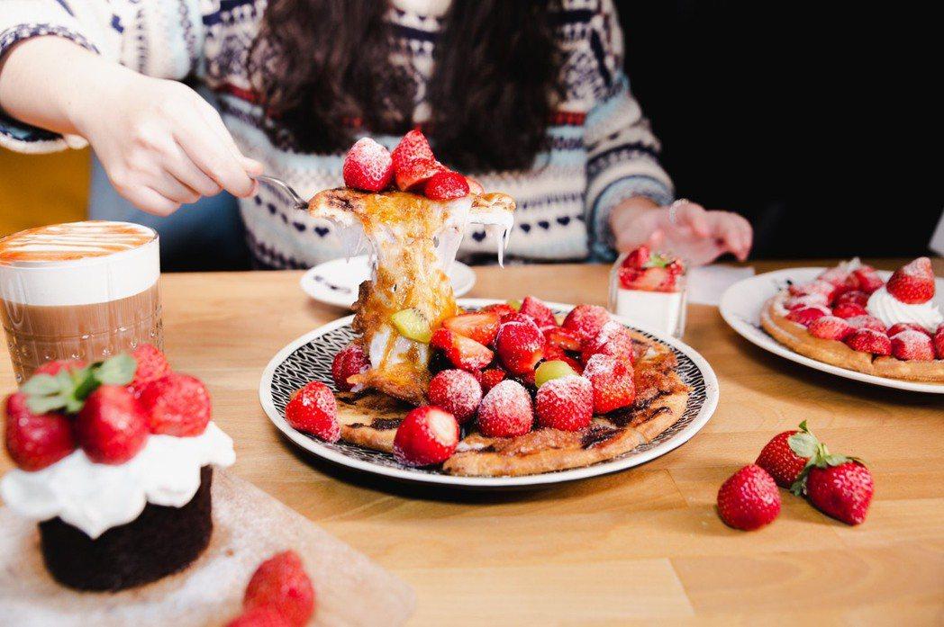 草莓珍珠麻糬披薩 業者/提供