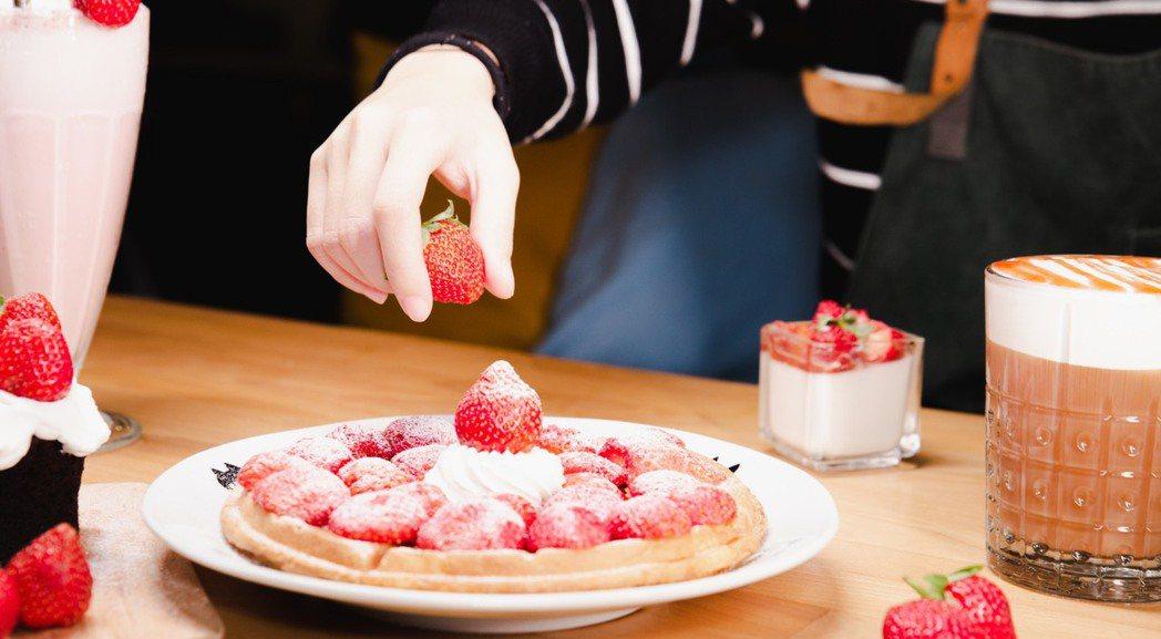 草莓鬆餅 業者/提供