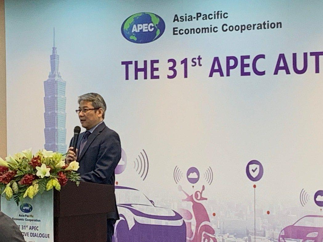 國際貿易局劉副局長威廉開幕致詞。 經濟部國際貿易局/提供