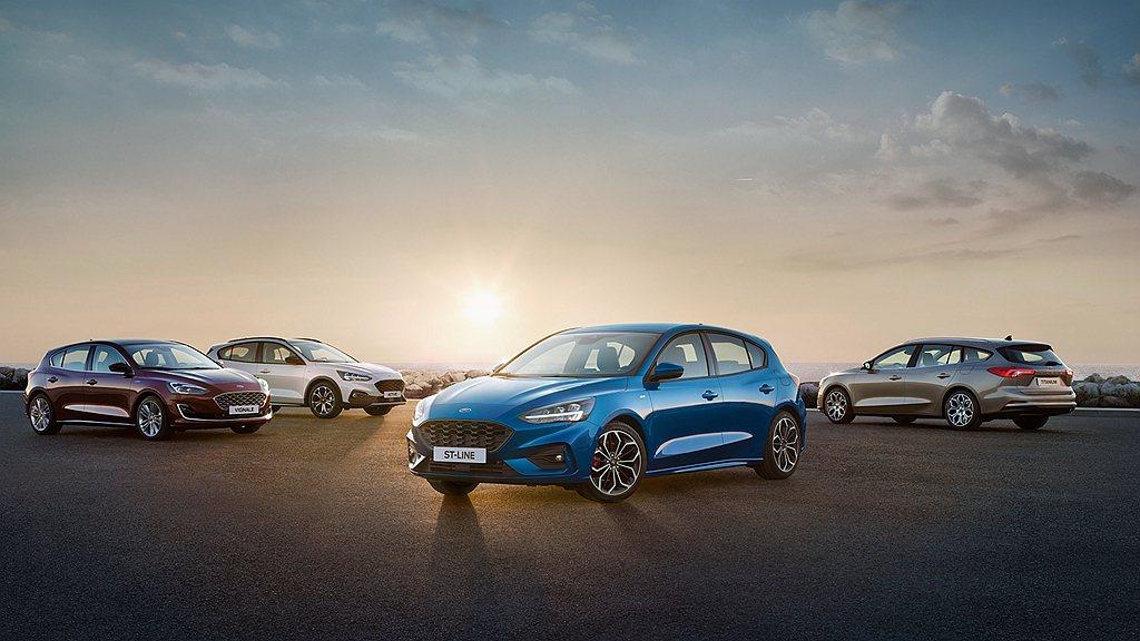 歐洲地區有超完善的Ford Focus銷售陣容,如ST性能版、Wagon旅行車、...