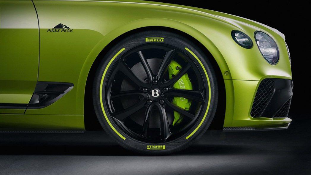 制動盤卡鉗及Pirelli P Zero高性能胎壁也特別採用Radium Gre...
