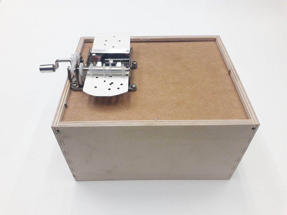 捲入音樂書籤演奏的音樂盒。 圖/野蜂國際開發有限公司 提供