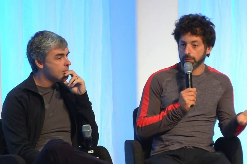 Google共同創辦人Larry Page (左)與Sergey Brin (右)[