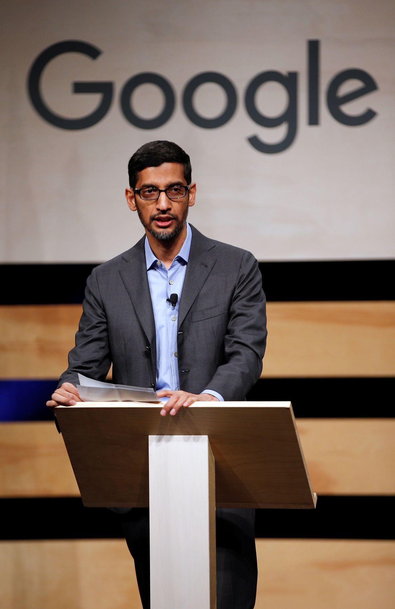 Google執行長皮伽(Sundar Pichai)。路透