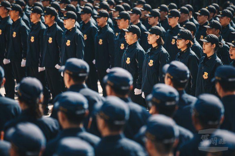 11月7日,國安局特勤中心舉行「安維七號」完訓編成典禮。圖/軍聞社