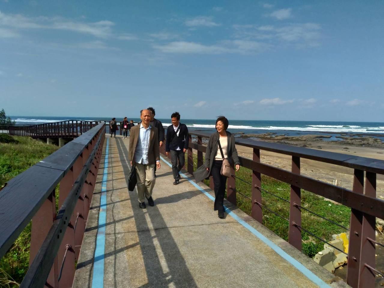 北海岸健行、溫泉、美食夯,日本業者來踩青春山海線。圖/北觀處提供