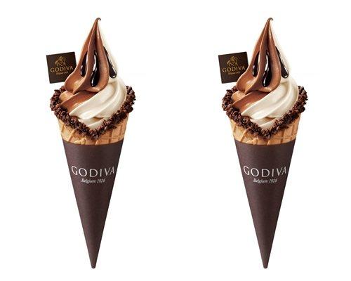「雙重巧克力霜淇淋」售價200元。圖/GODIVA提供