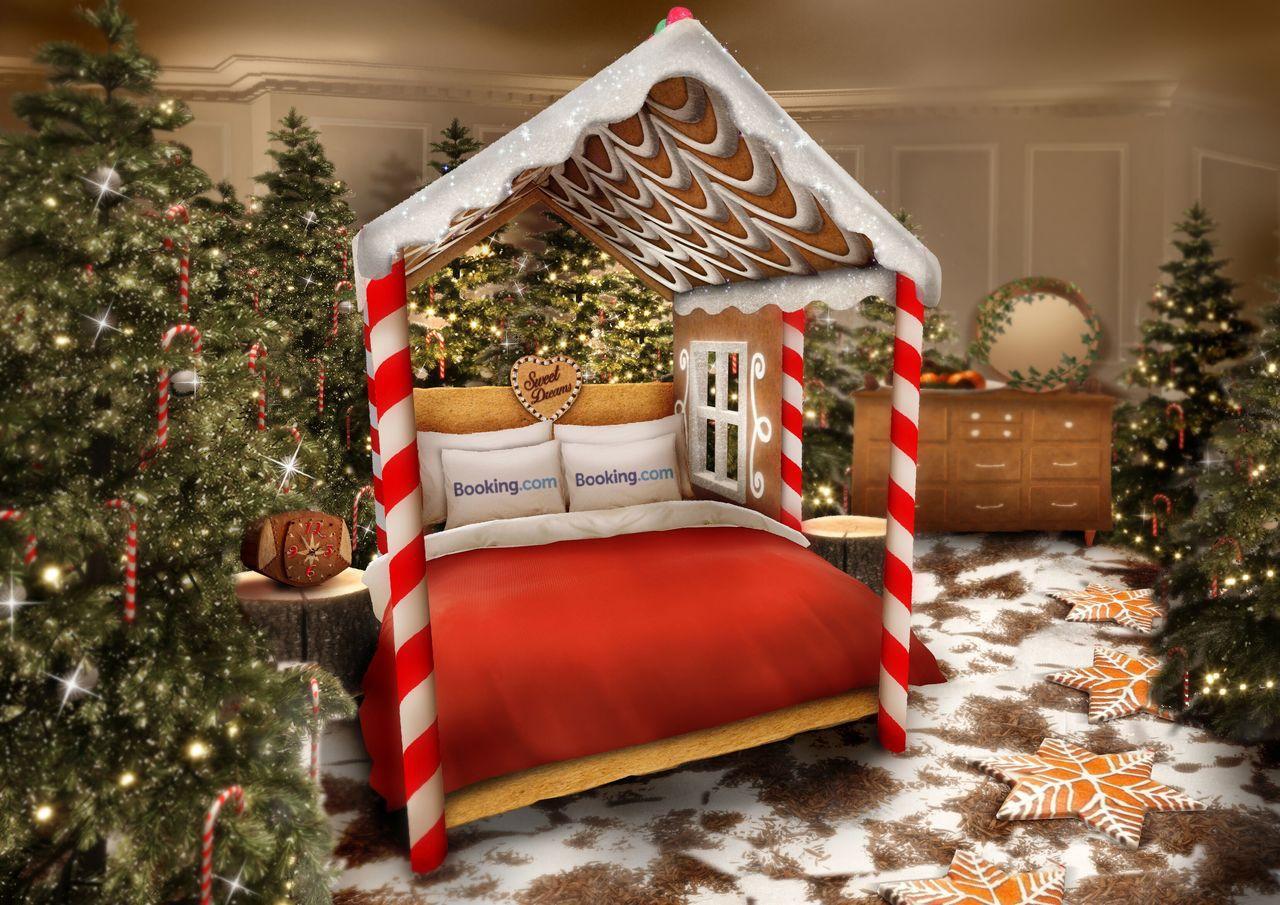 Booking.com希望糖果屋的每間房間,都能讓住客體驗到聖誕節的感受!無論是...