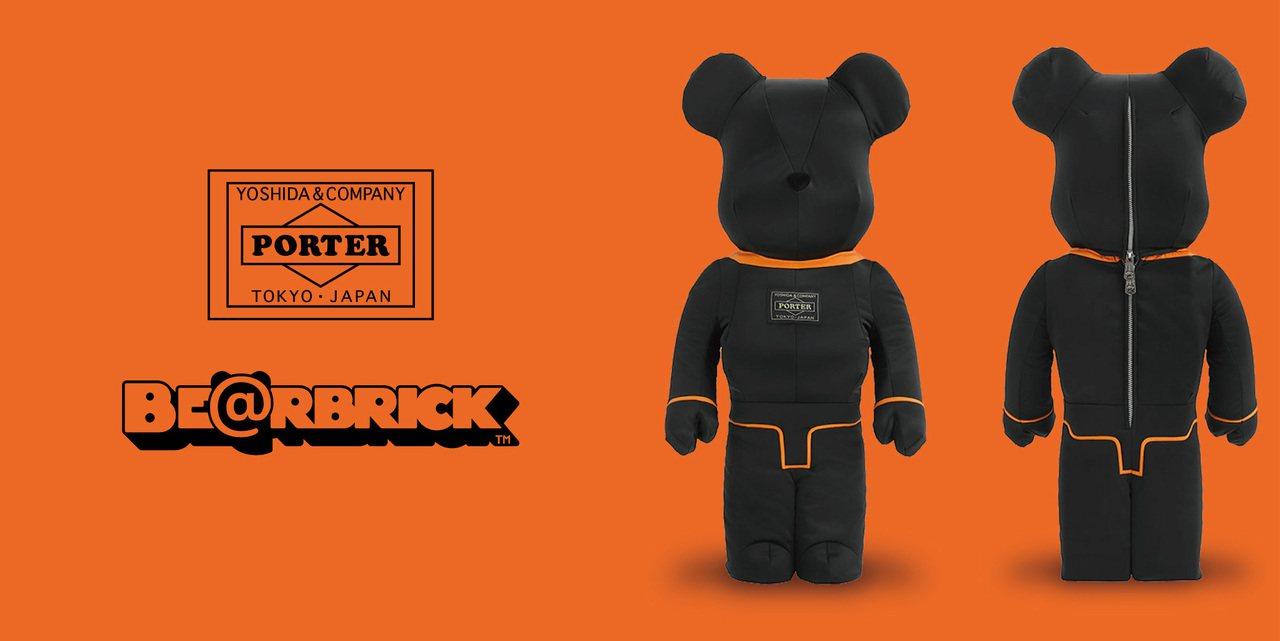 話題聯名限量PORTER BE@RBRICK公仔,也要在台灣銷售了。圖/PORT...