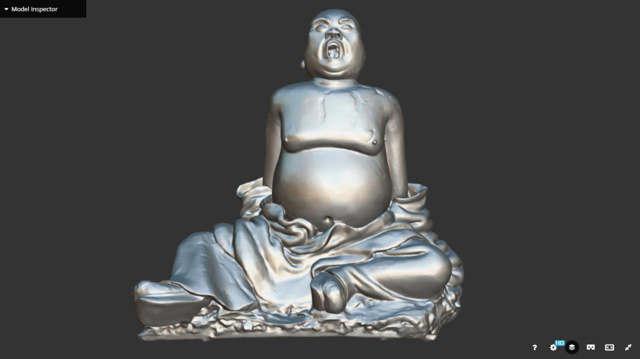 國寶交趾陶「胖羅漢」3D圖。圖/文資處提供