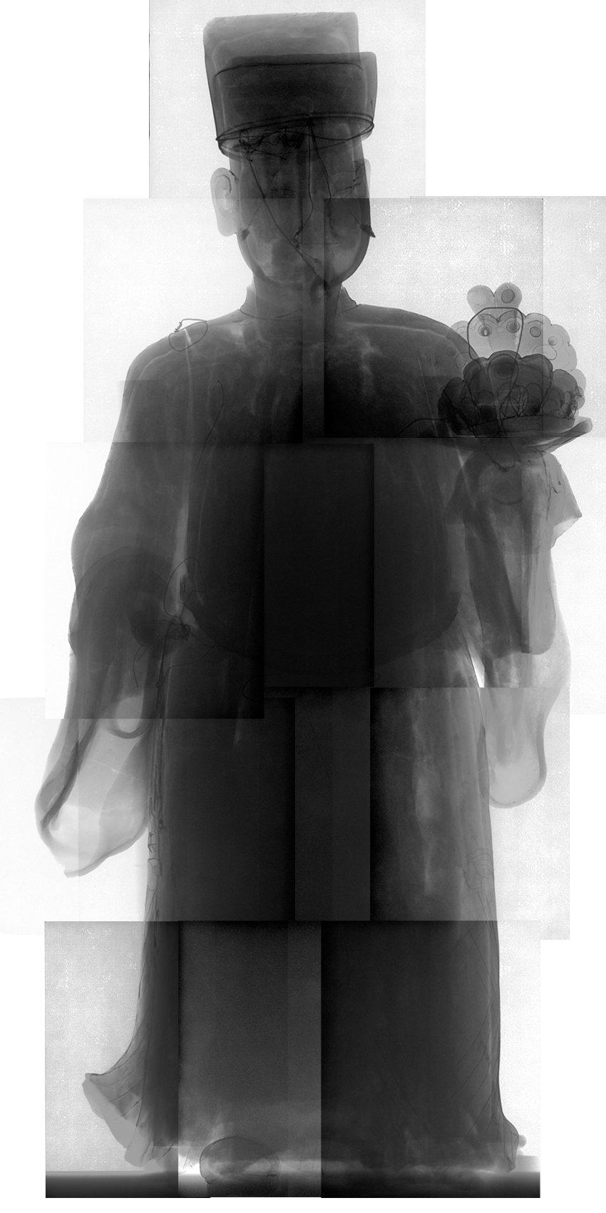 國寶交趾陶「加官」X光圖。圖/文資處提供