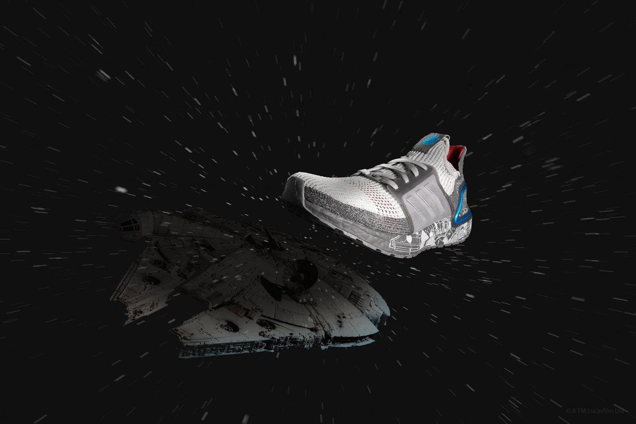 Ultraboost 19將千年鷹號融入鞋面設計,售價6,500元。圖/adid...