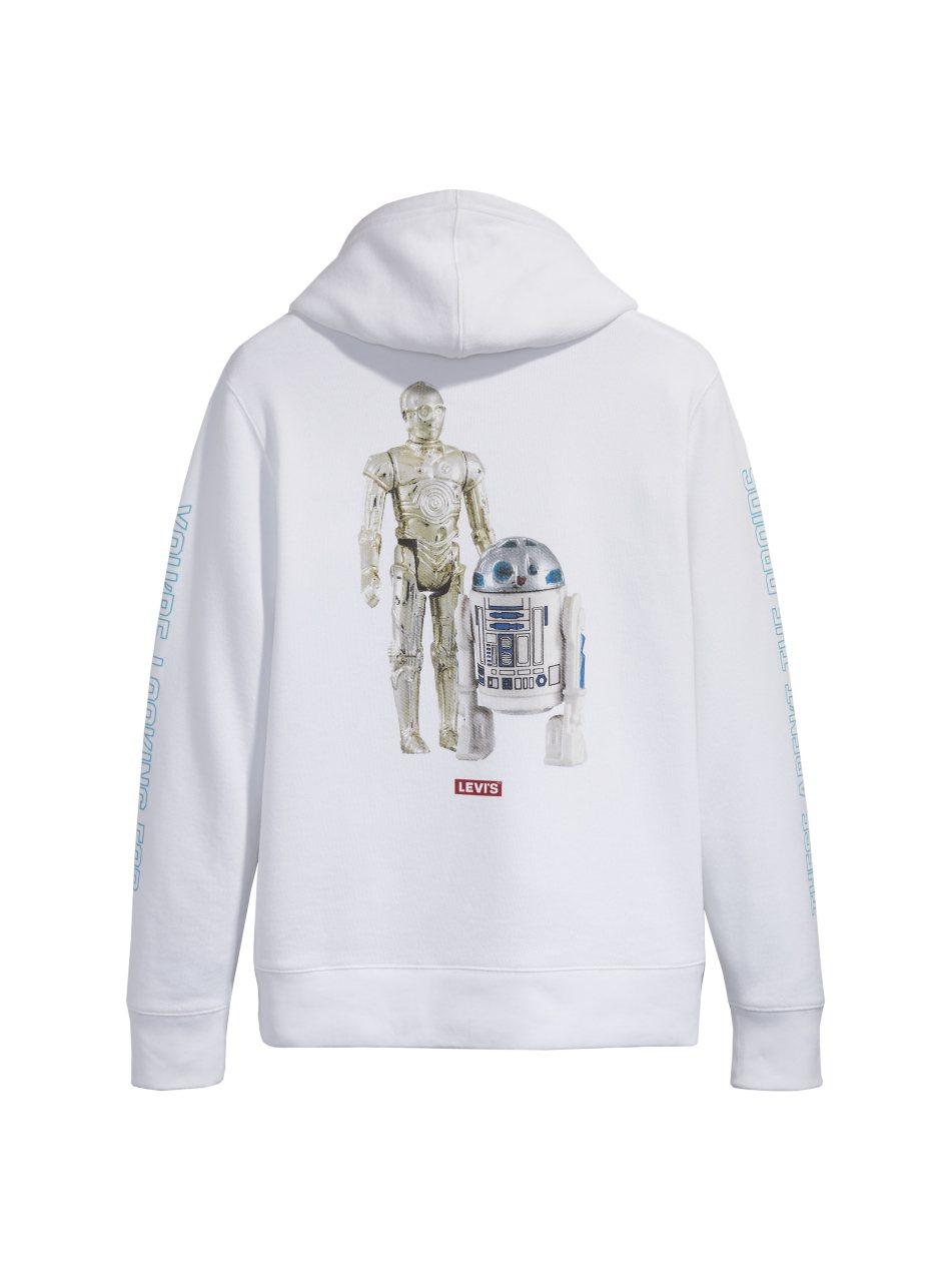Levi's星際大戰系列R2-D2 & C-3PO LOGO 帽T ,售價3,5...