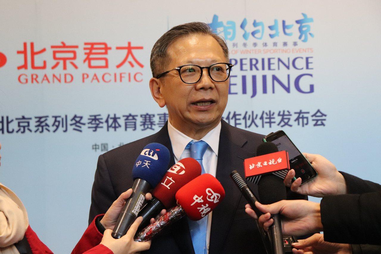 北京台協會長、北京君太百貨公司董事長章啟正。記者呂佳蓉/攝影