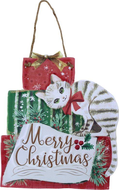 台隆手創館獨家推出DITICHCA耶誕鐵製貓咪掛飾,原價420元、特價336元。...