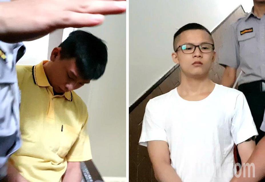 男子謝亞軒(右)與友人黃佑呈(左)在台北街頭飆車競速,卻害死保全員、從事資源回收的一對夫婦共3人。本報資料照片