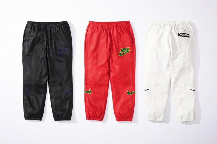 Supreme x Nike 最新聯名系列運動長褲。圖/摘自Supreme官網
