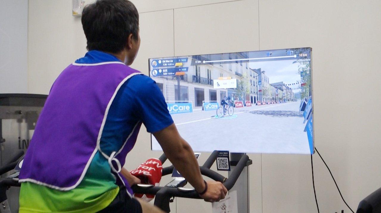 宇康醫電3D Biking健身車訓練心肺復建系統。圖/中光電提供