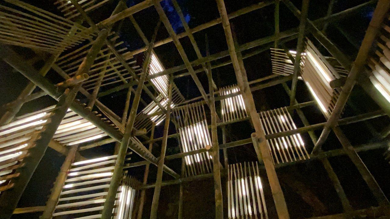「龍崎光節─空山祭」展出作品之一《勞作》,創作團隊是大橋頭藝術工作室。圖/文化局...