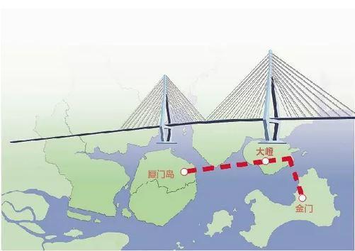 廈金大橋規劃以廈門島為起點,經翔安新機場,連通金門。福建省港澳台辦官網