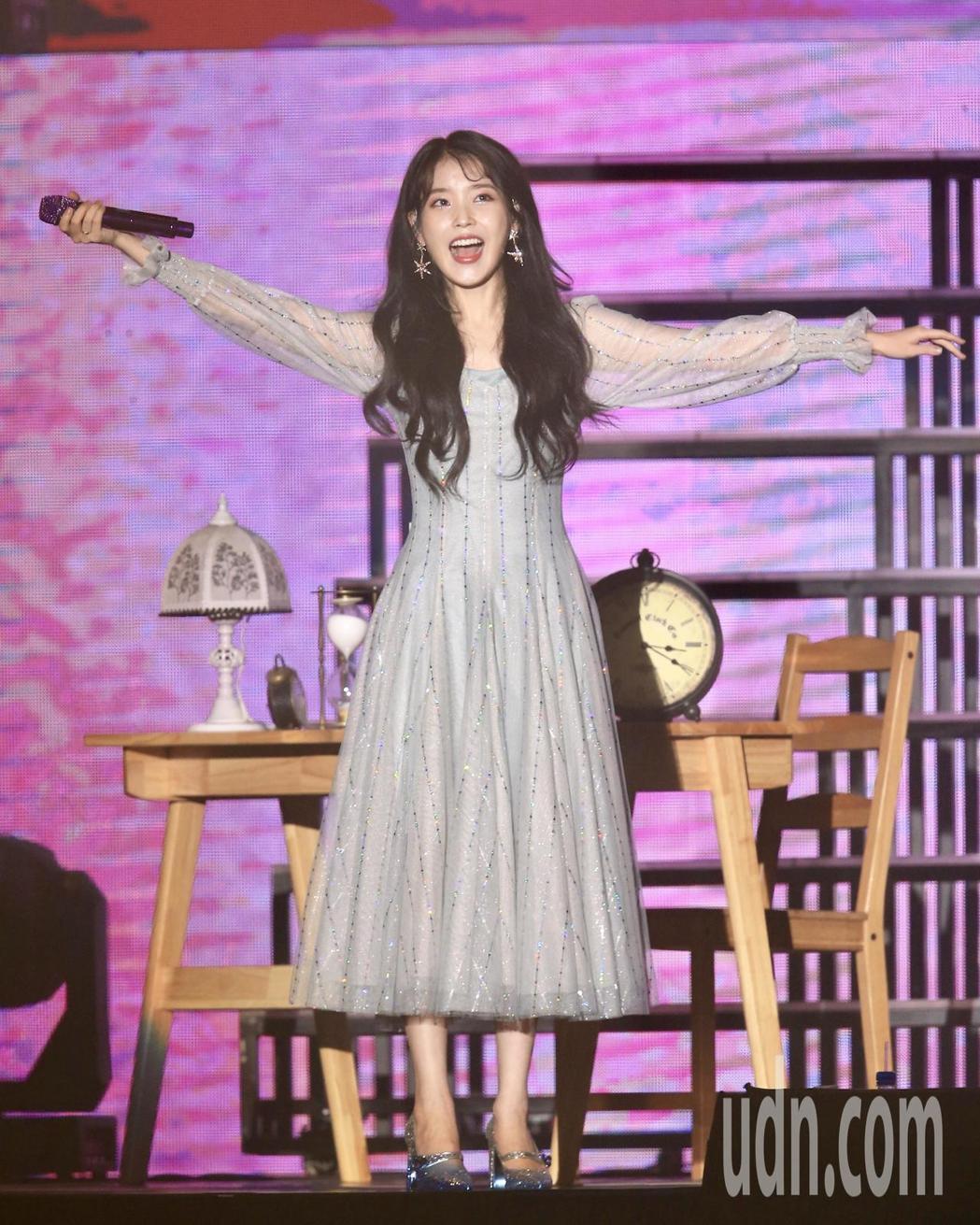南韓人氣女星IU上月底才來台開唱。記者林伯東/攝影