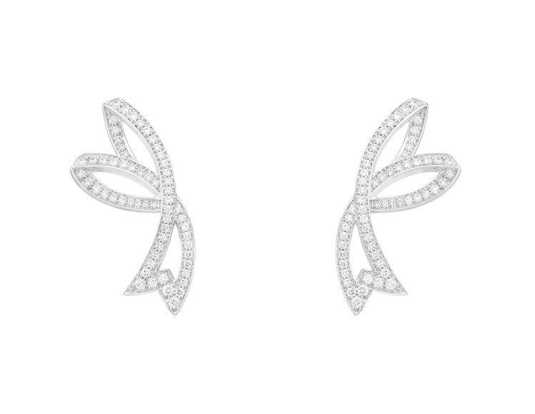 梵克雅寶,Contes d'Hive系列,白鑽耳環,約59萬元。圖/梵克雅寶提供...