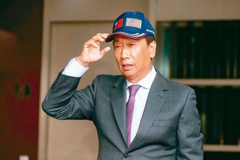 鴻海創辦人郭台銘昨天表示,身為中間力量,他希望政黨票不要讓民進黨通吃。 記者季相儒/攝影