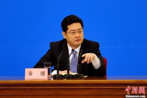 大陸外交部副部長秦剛。圖/取自中新網