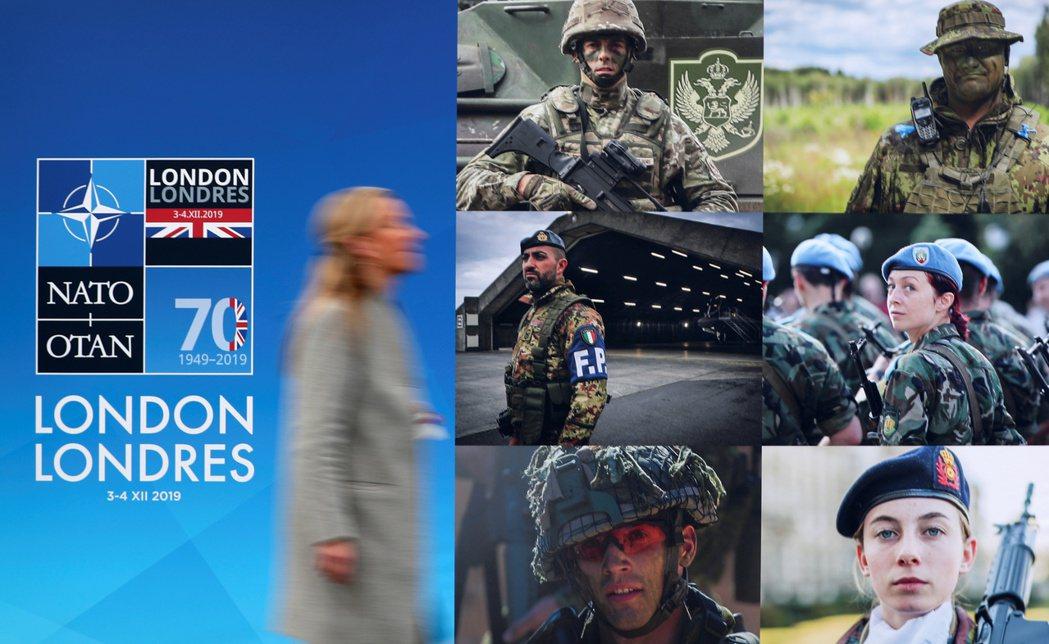 北約70周年峰會3日在倫敦舉行,圖為峰會官方海報。 (路透)
